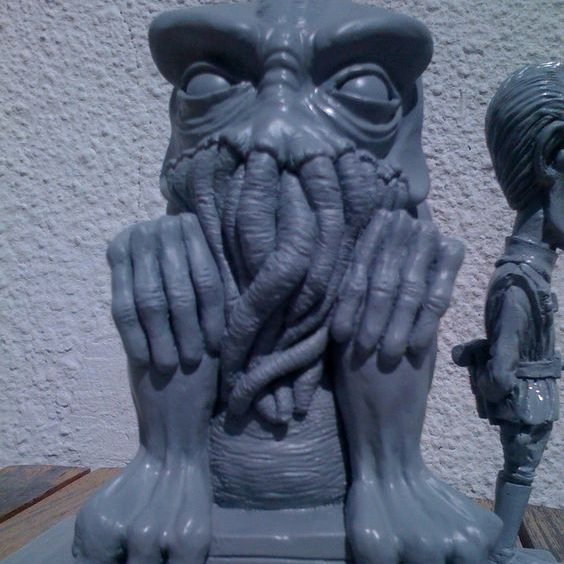 Casting Cthulhu statue