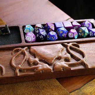 hardwood cthulhu dice box