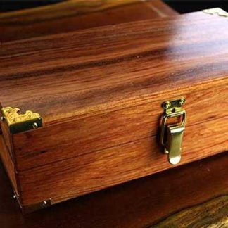 Bubinga hardwood dice box and rolling tray