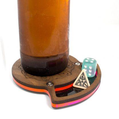 Walnut Top Dice Coaster C4Labs