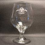fantasy etched glassware D20 Belgian Beer Glass MC Etching