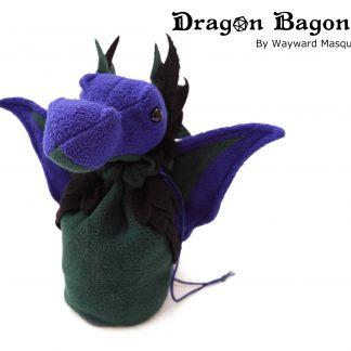 Purple & Green Dragon Bagon dice bag Wayward Masquerade
