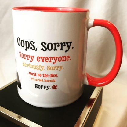 Dungeoneering Canada Sorry Mug - 11 oz