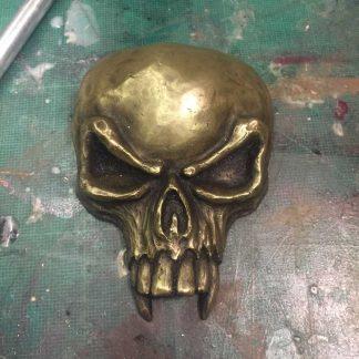 cold cast handmade skull symbol brass castings of cthulhu