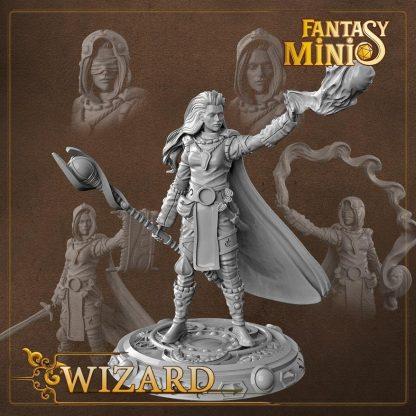 Fantasy female wizard miniature fantasy minis