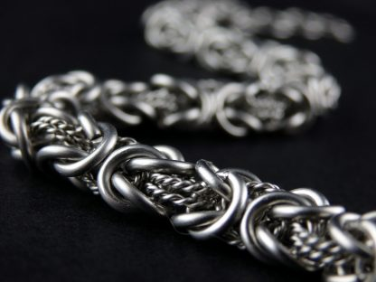 Surgical steel chainmaille byzantine bracelet Lukas Craft