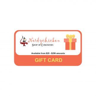 Nerdychicken Gift Card Variable Range