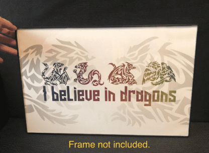 I Believe in Dragons Glossy Poster