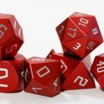 red aluminum dice level up dice nerdychicken