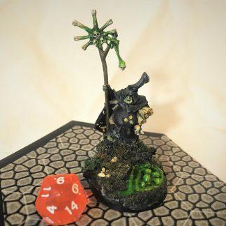 Hand-Painted Warhammer 40K Miniature Sorcerer Rotbringer of Nurgle