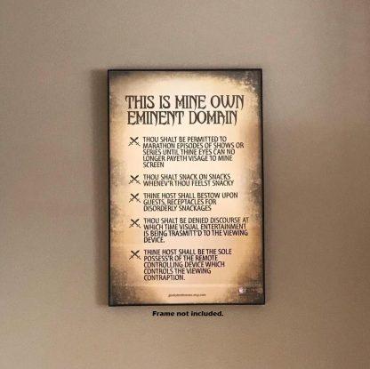 """Eminent Domain Premium Poster 11"""" x 17"""" Matte Finish"""