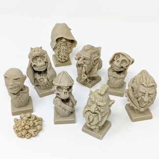 Hand Sculpted Resin Microbusts