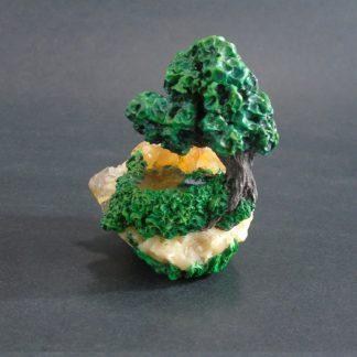 tree and pond sculpture on citrine