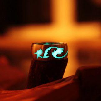 Glow-in-the-Dark Dragon Ring Band
