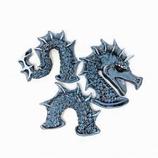 Molded Resin Sea Serpent Magnet set